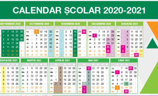 Calendarul scolar 2020-2021